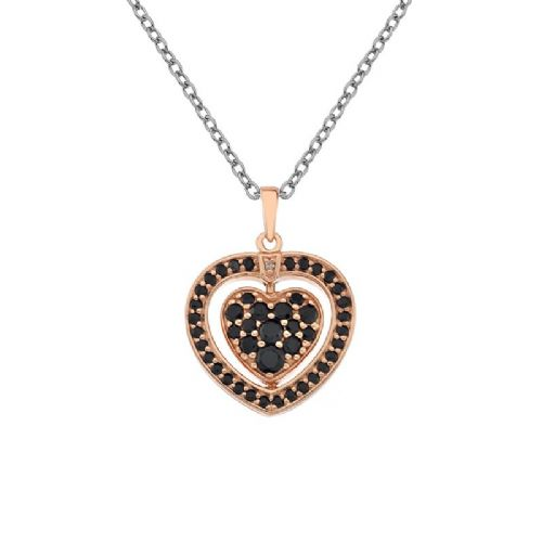 Hot Diamonds Rose Gold Plated Sterling Silver Turning Heart necklace DP607
